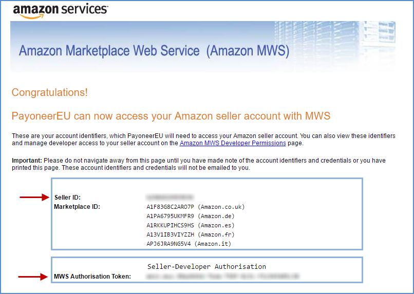 如何查找您的亚马逊MWS信息