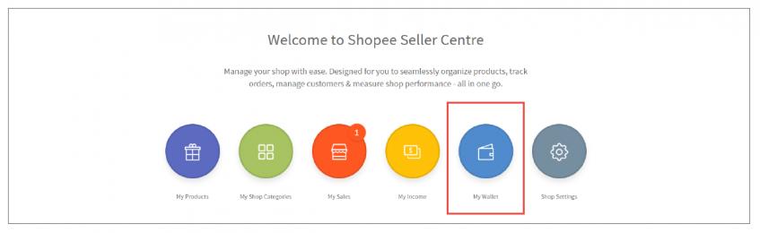 Screenshot of Shopee Seller Centre