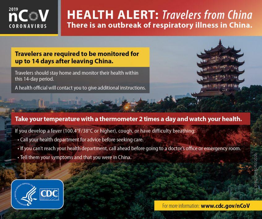 предупреждение коронавируса CDC