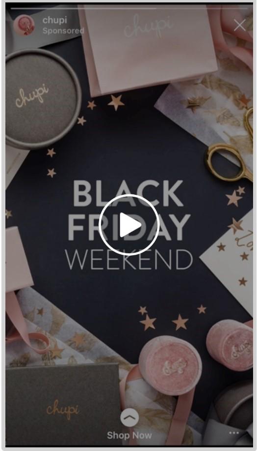 Chupi Instagram ad